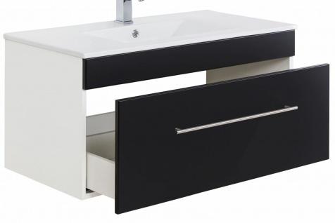 Waschplatz 100 cm Waschtisch hängend VIVA Keramikbecken 1 Schublade Soft-Close