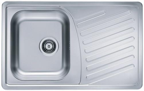 Einbauspüle Leinenstruktur 81 cm Küchenspüle Ablaufgarnitur Spülbecken *1009381
