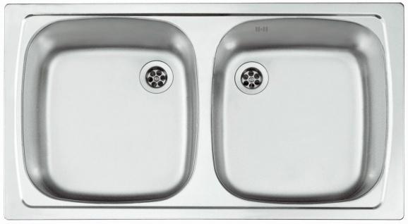 Doppelspüle Leinen 78 cm Camping-Spüle Küchenspüle Doppelspülbecken *1037483