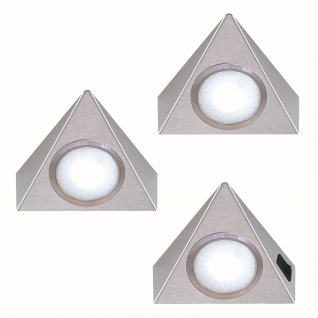3-er Set LED Unterbau Küchenleuchte je 1, 3 Watt neutralweiss Lampenset *551903