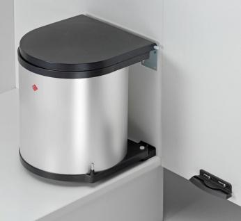 Wesco Küchen Mülleimer edelstahl Kosmetikeimer 11 L Einbau 40 cm Schrank *40052