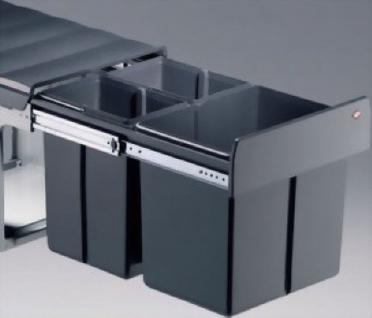 Wesco Profiline Trio Master 32 Liter 3-fach Bio Küchen Abfall Mülleimer *515615