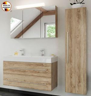 Doppelbadmöbel-Set Livono Doppelwaschplatz 100 cm Badset 3 Teile Badmöbel-Set