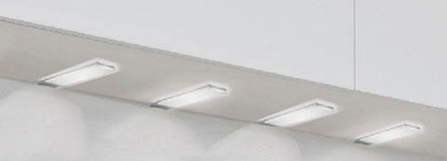 LED Einbau Schrank Unterbauleuchte 4 x 3, 4 W Küchenlampe PLANAR dimmbar *30582