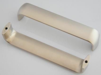 25 Stück Möbelgriffe BA 128 mm Küchengriffe vernickelt matt Schrankgriffe *9007 - Vorschau 3
