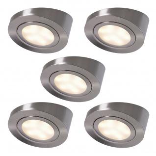 LED Set 5 x 3 Watt Küchen Unterbau Leuchte ALEXA Strahler Spot Lampenset *552153