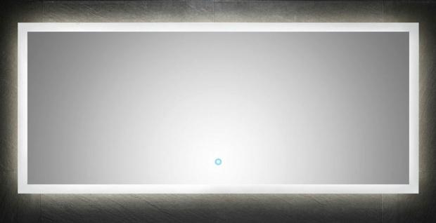 LED Badezimmer Spiegel 140x60 cm Badspiegel Wandspiegel Touch warmweiss *14060