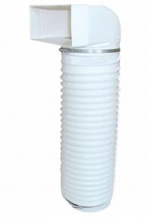 Umlenkstück Abluft 100 cm Flexschlauch Flachkanal 220x90 mm auf Ø 150 mm *528073