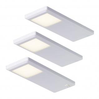 LED Küchen Lampe Licht 3 x 3 W Unterbauleuchte 3-er Set Neutralweiss ...