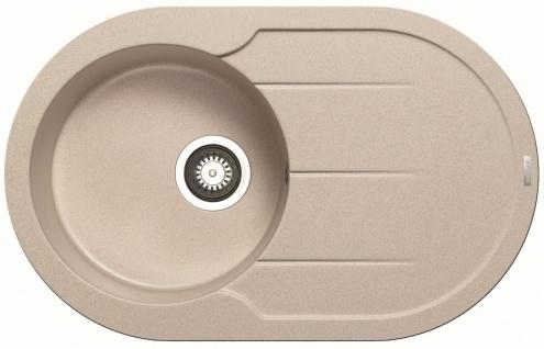 Einbauspüle 78x49 cm Küchenspüle Alazia Round Spülbecken beige Spüle *070072612