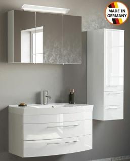 Badmöbelset Modena Badset 3 Teile Waschplatz 100 cm Badeinrichtung Badmöbel weiß