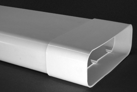 Flachkanal mit Muffe 230x80 mm Abluft-Rohr 100 cm Abzugshaube Dunstabzug *50461