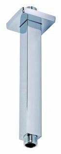 Brausearm 15 cm eckig Duscharm für Kopfbrause Duschkopf Regendusche chrom *1001