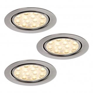 LED 3-er Set Küchen-/Einbauleuchte 3 x 3 W Schrank-/Regalboden Strahler *552184