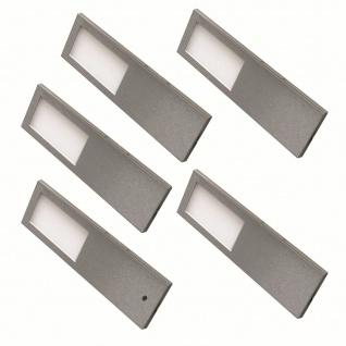 LED Edelstahl Unterbauleuchte Küche 5x5, 2 W Unterbaulampe Torro warmweiß *556434