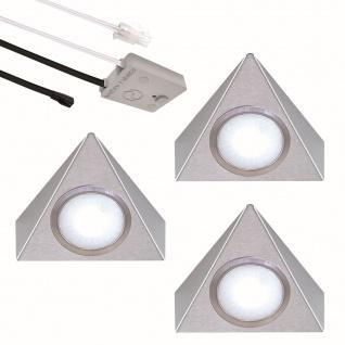 LED 3-er Set Küchen Unterbauleuchten 3 x 2, 7 Watt Lichtfarbe regelbar *552474