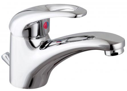 Waschtisch Badarmatur DONAU Wasserhahn Einhandmischer Messing Verchromt *8900