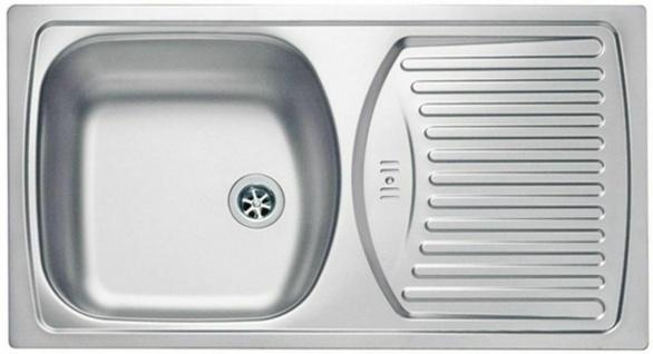 Küchenspüle Edelstahl Campingspüle 78 cm Überlauf 1, 5 Zoll Ablauf Spüle *1037235