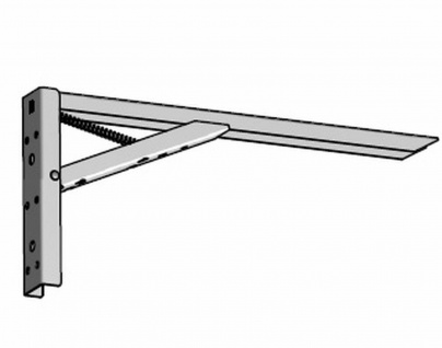 1 Klappkonsole Klapptisch Halterung Kippbeschlag Wandhalter max 100 Kg weiß *817