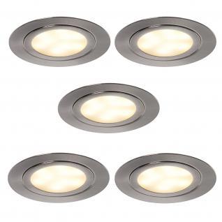 5 x 3 Watt LED Set Küchen Einbauspot Strahler Einbauleuchte Licht ALEXA *552054