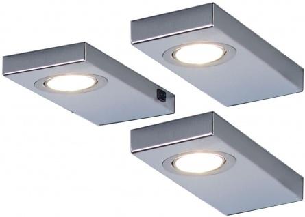 3-er Set LED Möbel-/Küchen-/Unterbauleuchte 3 x 3 Watt Edelstahl 3200 K *548866