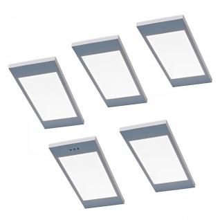 5-er Set LED Küchen Unterbauleuchte SANTO 3, 5 W dimmbar Warmweiss Licht *567829