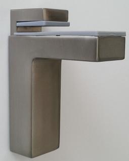 Regalboden Halter Bodenträger Wandhalter massiv 8-50 mm Edelstahl Optik *506-07