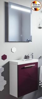 Handwaschbecken 40 cm Alexo mit Unterschrank 2 Teile Badset LED Spiegel EEK A+