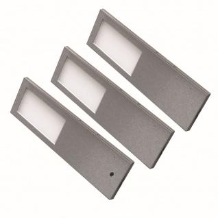 3-er Set LED Edelstahl Unterbauleuchte Küche TORRO 3 x 5, 2 W Warmweiss *556427