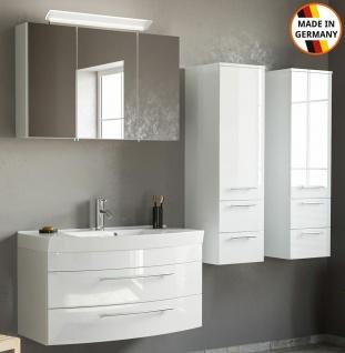 Badmöbelset Modena Badset 4 Teile Waschplatz 101 cm Badeinrichtung Badmöbel weiß