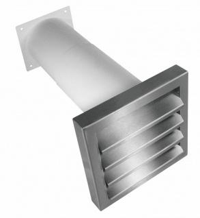 Mauerkasten Dunstabzug Flachkanal 150x80mm Rückstauklappe Abluft Küche *527915