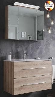 Waschtisch Homeline 80 cm Keramikbecken LED Spiegelschrank EEK A+ Waschplatz