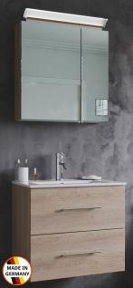 Waschplatz Homeline 60 cm LED Spiegelschrank Waschtisch 2 Teile Gäste Badezimmer