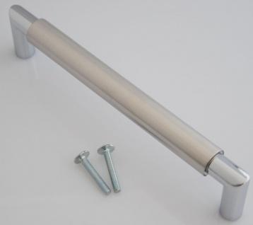 Kommoden Schrank Möbelgriff BA 160 mm BiColor Edelstahl Tür Küchengriff *651