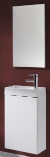 Waschplatz Selina 40 cm Spiegel Weiss Waschtisch Gäste-Bad WC montiert *91201