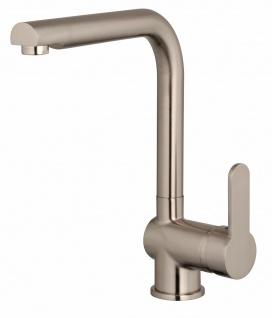 Küchenarmatur Edelstahloptik Wasserhahn Spültischarmatur Waschtischarmatur *1024