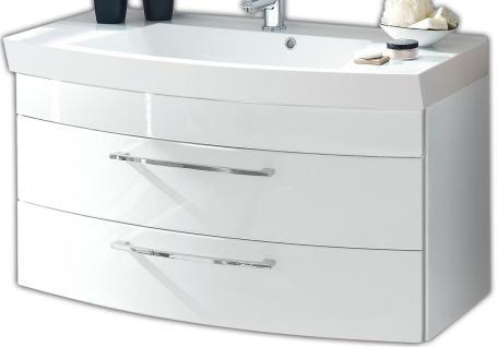 Waschplatz 100 x 57 x 50 cm SoftClose Waschtisch Waschbecken Badmöbel *5870-76
