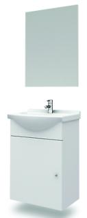 Waschplatz Nassau inkl. Spiegel 45, 5 cm Weiss Gäste WC Waschtisch Keramikbecken