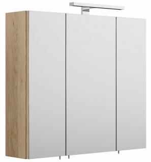 Badezimmer Spiegelschrank 70 cm LED Leuchte EEK A+ Badspiegel 3 Türen *5422