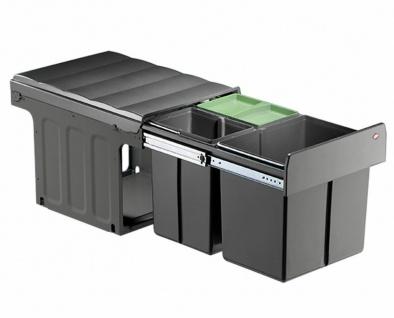 Wesco Küchen Mülleimer 3-fach Abfalleimer Einbau 40 cm Schrank Bioeimer *40314 - Vorschau