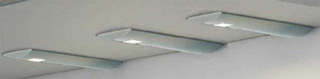 LED 3-er Set Küchen Unterbauleuchte 3 x 3 W Edelstahloptik Sensorschalter *31603