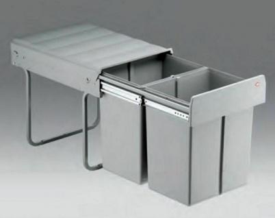 Wesco Double Master Maxi 40 DT Küchen Mülleimer 2 x 20 Liter Vollauszug *515523