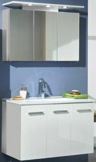 Badset 2 Teile Waschplatz 100 cm LED Spiegelschrank Porzellan Sao Paulo *83210