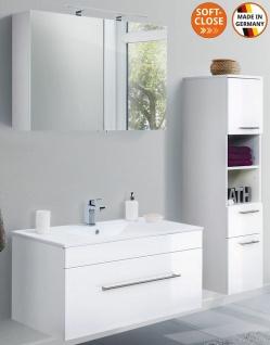 Badmöbelset Viva Badset 3 Teile Waschplatz 100 cm Badeinrichtung Badezimmer-Set