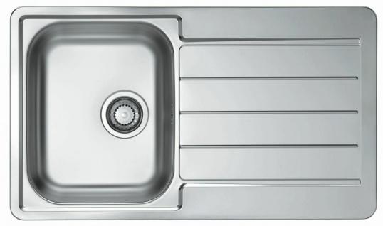 Alveus Küchenspüle Edelstahl Einbauspüle 86 cm Ablaufgarnitur Spülbecken 1065560