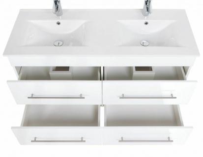 Waschplatz 60 - 140 cm Keramikbecken Schublade SoftClose Hochglanz *Holi-WP-W - Vorschau 4