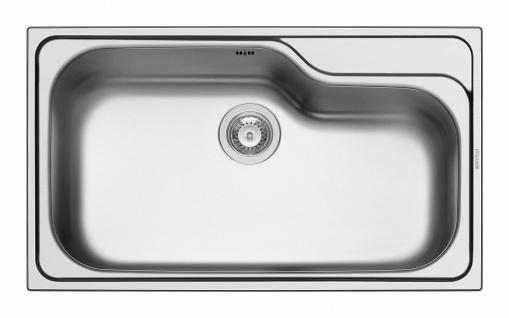 Küchenspüle mit großem Becken Edelstahl Einbauspüle 86 cm Spülbecken *100138202