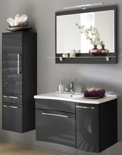 Badset 3 Teile Waschplatz 90 cm Badmöbel LAONDA LED Spiegel Badschrank *3002