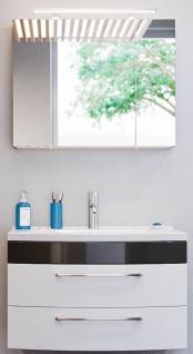 Waschplatz Rima 82 cm Badeinrichtung 2-teiliges Badset Spiegelschrank *8000070