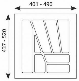 Besteck-/Schubladeneinsatz 401-490 mm kürzbar 50 cm Besteckkasten PVC *Multi-50
